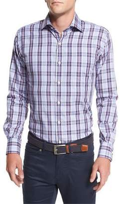 Peter Millar Plaid Sport Shirt, Navy Multi $145 thestylecure.com