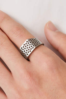 Cos PERFORATED SIGNET RING