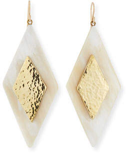 Ashley Pittman Rikebu Light Horn Drop Earrings