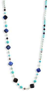 Chan Luu Blue Mix Beaded Strand Necklace