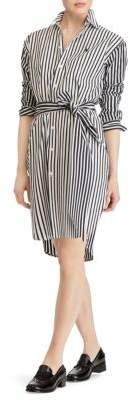 Polo Ralph Lauren Striped Long Sleeve Shirt Dress