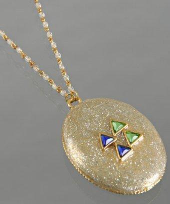 Rachel Leigh silver 'Bright Stone' glitter pendant necklace