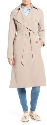 Women's Cole Haan Signature Long Drapey Trench Coat $228 thestylecure.com