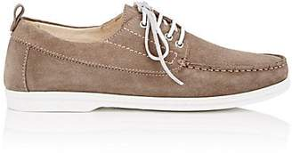 Barneys New York MEN'S SUEDE BOAT SHOES - BEIGE, TAN/TAUPE SIZE 10 M
