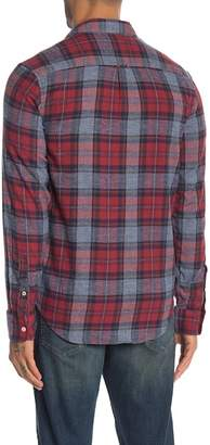 Lucky Brand Plaid Print Classic Fit Saturday Stretch Shirt