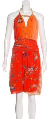 Fuzzi Knee-Length Mini Dress