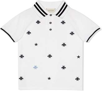 20112298526 Gucci Kids Children s polo with bees and stars
