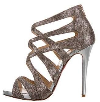 Christian Louboutin Balota 120 Glitter Sandals