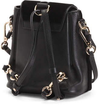 Made In Italy Italy Faye Leather Mini Backpack
