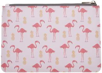 Fenella Smith - Flamingo & Pineapple Clutch Bag