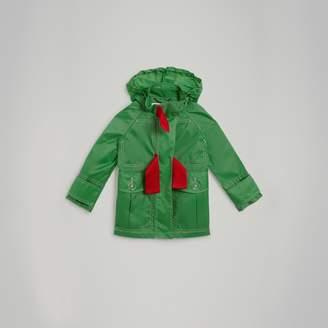 Burberry Tape Detail Rain Jacket