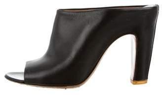 Maison Margiela Leather Peep-Toe Mules
