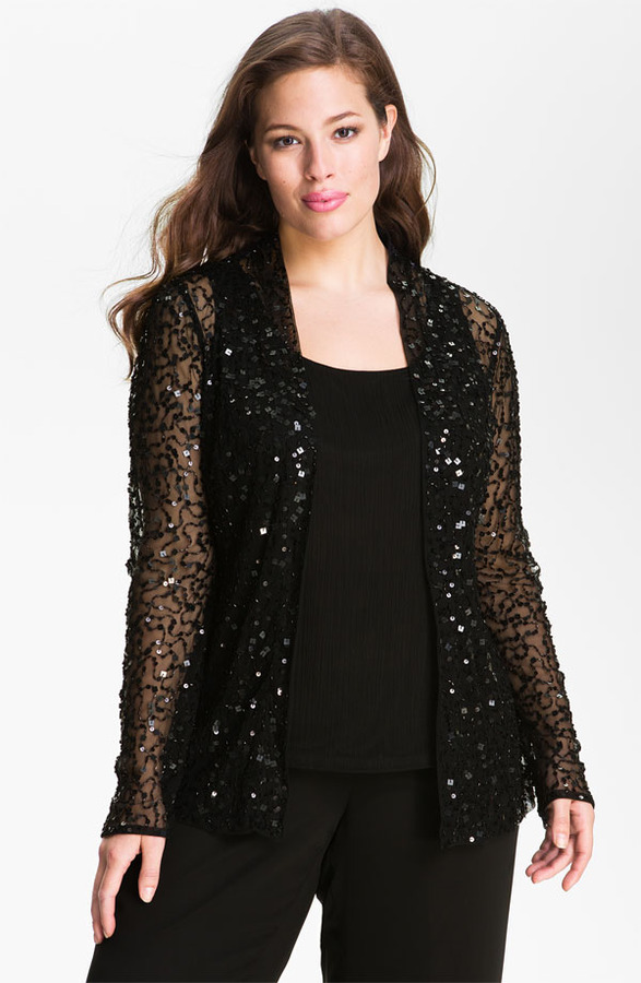 JS Collections Sequined Twinset (Plus)