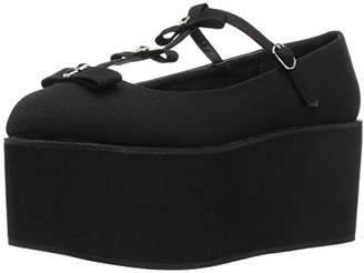 Demonia Women's Cli08/bca Flat Sandal