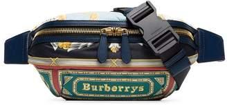 Burberry green Sonny medium printed leather belt bag