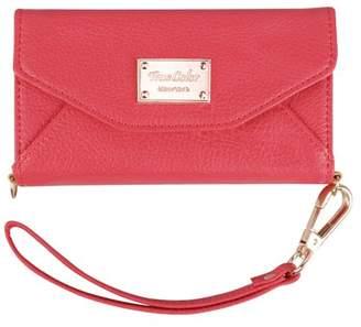 TrueColor iPhone 6 6s Wallet Case, True Color Premium Leatherette Wristlet Clutch Folio Tri-Fold Wallet Purse Case Cover - Coral Pink