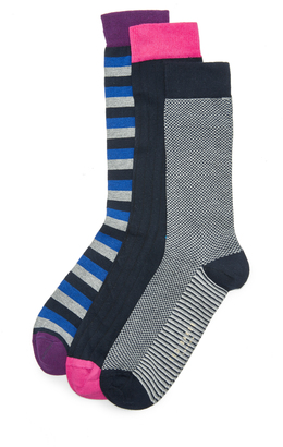 Ted Baker Marz 3 Pack Socks $45 thestylecure.com