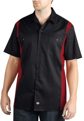 Dickies Big Men's Short Sleeve Two-Tone Work Shirt