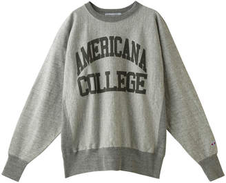 Americana (アメリカーナ) - アメリカーナ ビッグクルーネックスウェット(ヴィンテージ加工)