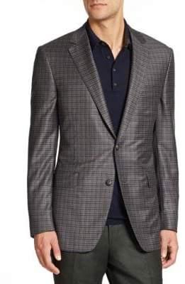 Saks Fifth Avenue Samuelsohn Checked Wool Sportcoat