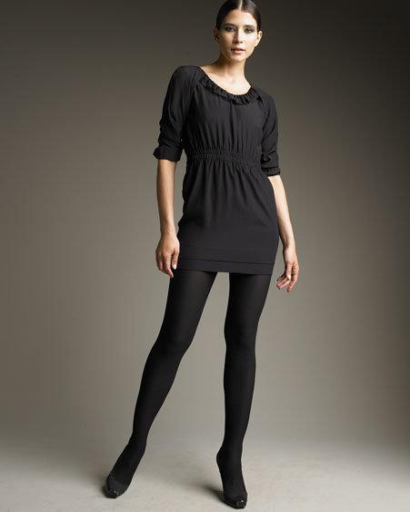 Stella McCartney Smocked-Waist Silk Dress