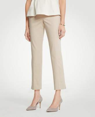 Ann Taylor The Petite Ankle Pant In Cotton Sateen - Curvy Fit
