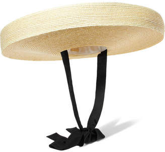 Cult Gaia Paloma Cotton-trimmed Straw Hat - Neutral