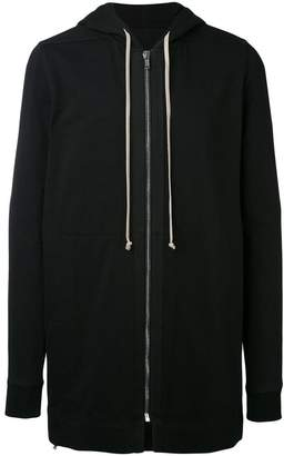 Rick Owens Black Zip Up long length hoodie