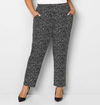 Avenue Dot Relaxed Pull-On Pant