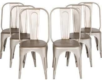 Restoration Hardware Set of 6 Vintage Steel Side Chairs