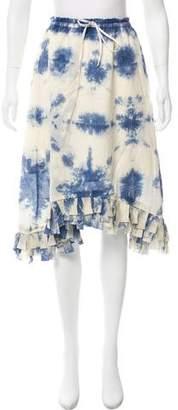 Clu Tie-Dye Knee-Length Skirt w/ Tags