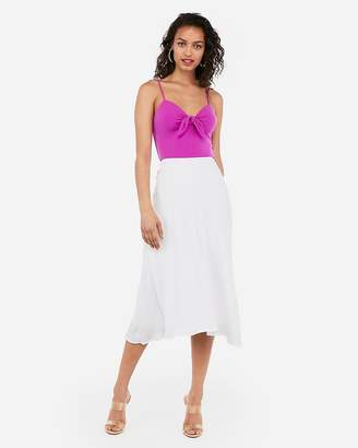 Express Cropped Tie Front Cami
