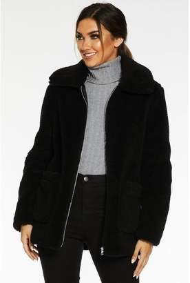 Quiz Black Borg Teddy Bear Jacket