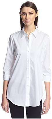 Society New York Women's Shirred Sleeve Shirt