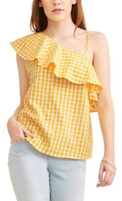 Toxik3 Women's Gingham One Shoulder Top