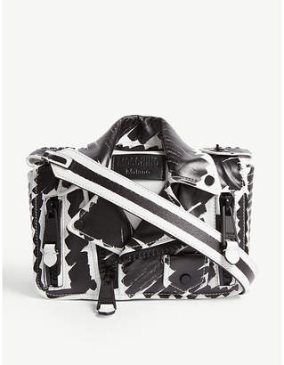 Moschino Leather Biker jacket bag