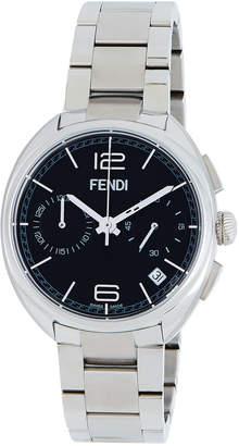 Fendi 40mm Momento Chronograph Watch, Black