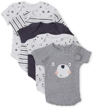 Rene Rofe Newborn Boys) 5-Pack Bear Bodysuits