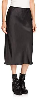 Helmut Lang Double Satin Slip Skirt