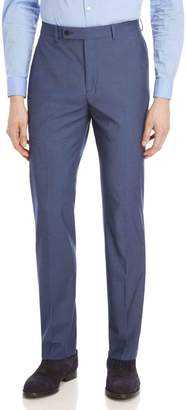 Calvin Klein Blue Sharkskin Stretch Slim-Fit Suit Pants