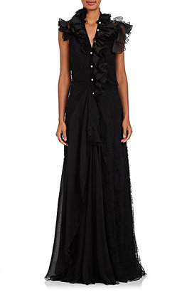 Lanvin Women's Ruffle Sleeveless Gown