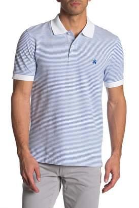 Brooks Brothers Classic Stripe Short Sleeve Polo