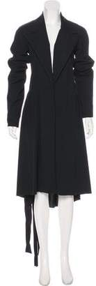 Lanvin Gathered Wool Coat