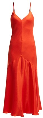 Mara Hoffman Seraphina Bias Cut Satin Twill Dress - Womens - Red