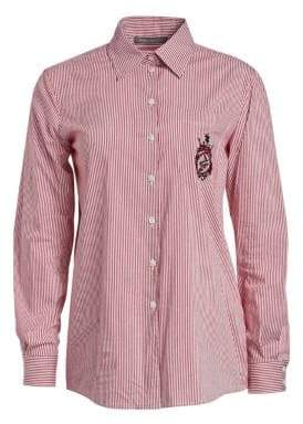 Alberta Ferretti Striped Button-Down Shirt