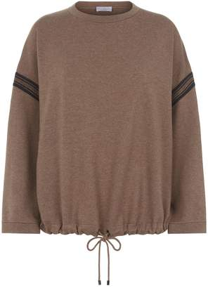 Brunello Cucinelli Oversize Drawstring Hem Sweater