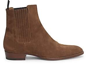 Saint Laurent Men's Wyatt Suede Chelsea Ankle Boots
