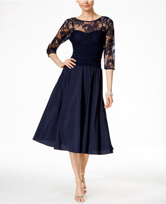 Jessica Howard Three-Quarter-Sleeve A-Line Dress $119 thestylecure.com