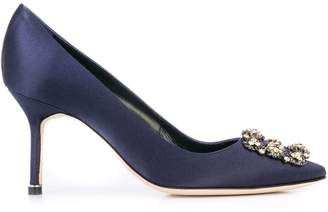 Manolo Blahnik jewel buckle pumps