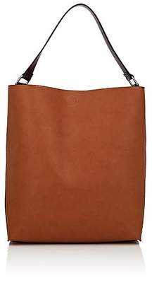 Barneys New York WOMEN'S ANN COLORBLOCKED FAUX-LEATHER HOBO BAG - BROWN
